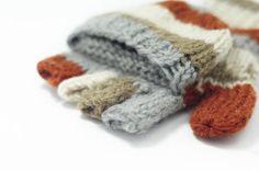 限量一件手織純羊毛針織手套 / 可拆卸手套 / 鉤針手套 / 保暖手套 - 秋天森林