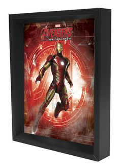 'Iron Man - Age of Ultron - Logo' 3D Framed Graphic Art on Wrapped Canvas