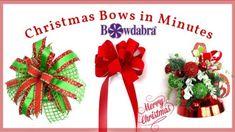 Christmas Crafts   Christmas DIY Gifts Making   Bowdabra Bows Christmas Bows, Diy Christmas Gifts, Christmas Decorations, Xmas, Bow Making Tutorials, Video Tutorials, Funky Bow, Traditional Bow, Printed Ribbon