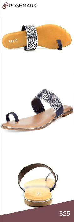 BAR 111 (MACY'S) SANDALS Slip on sandal. Very gently used. Information above. Bar III Shoes Sandals