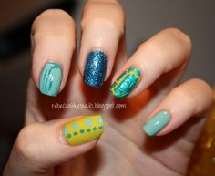 Crazy skittles by Rebecca likes Nails