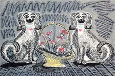 Wally Dogs print by Enid Marx.  I love my Wally dogs, even if mom didn't.
