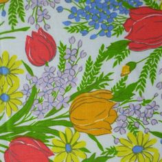 vintage sheet fabric fat quarter