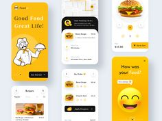 Foodie - Online Food Delivery App by Bhavna Kashyap for Nickelfox on Dribbble A Food, Good Food, Delivery App, Ui Inspiration, App Design, Mobile App, Box, Snare Drum, Mobile Applications