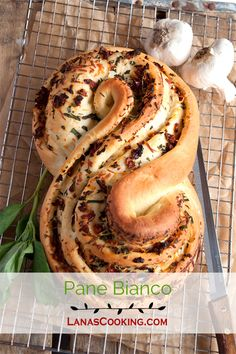 Pane Bianco Filled with Tomato, Basil, and Garlic. From @NevrEnoughThyme http://www.lanascooking.com/pane-bianco-filled-with-tomato-basil-and-garlic-twelveloaves