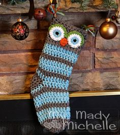 15 Cute and Creative Christmas Stocking Designs - Style Motivation Baby's First Christmas Stocking, Crochet Christmas Stocking Pattern, Crochet Stocking, Christmas Owls, Holiday Crochet, Babies First Christmas, Crochet Gifts, Crochet Christmas Stockings, Yarn Projects