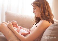 Lifestyle Newborn Photography   Mom and newborn photograph by Michael Kormos