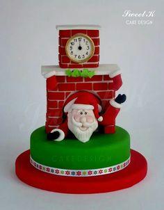 Santa Christmas Cake Art