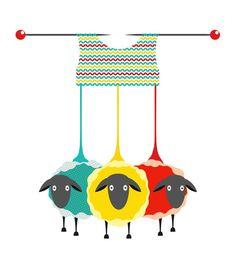 Knitting Sheep by Popmarleo