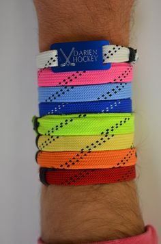Check out all the colors in our lace bracelets! Engrave them with any design and custom text to create the perfect gift for any athlete!