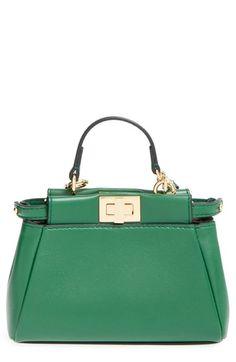 f773d26378ab Fendi  Micro Peekaboo  Nappa Leather Bag