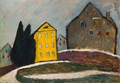 Gabriele Münter: Gelbes Haus, 1911. Öl auf Leinwand, 51,8 x 75 cm; Bayerische Staatsgemäldesammlungen, Pinakothek der Moderne, München. © VG Bild-Kunst, Bonn 2014
