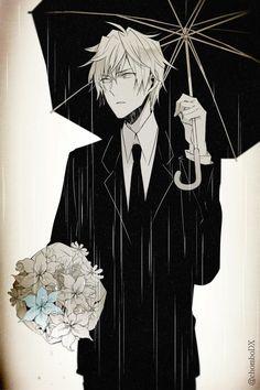 Shizuo Heiwajima ~ Why does it make me think that Shizuo is at Izaya's funeral? ._.