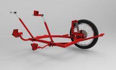 Jawa-CZ Kyvacka - Frame of sidecar Velorex 560 - 3D CAD model - GrabCAD