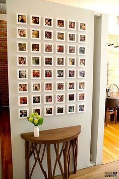 instagram wall. where to get the tiny frames + all! super great idea because you can switch photos in or out whenever you please!