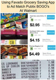 Grocery Savings App Tip ~ Ad Match Publix BOGO's At Walmart