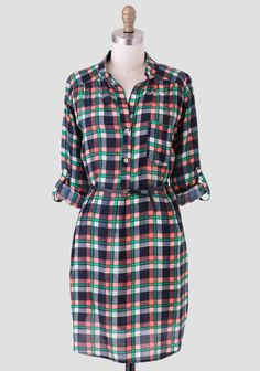 Rustling Leaves Plaid Dress | Modern Vintage New Arrivals