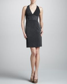 Jersey Halter Dress, Washed Black by Zac Posen at Neiman Marcus.