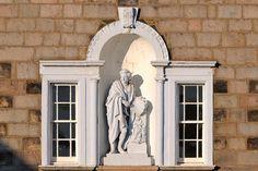 Detail on the facade of Robert Gordon's College, Aberdeen