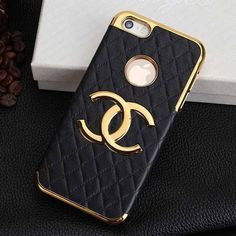 Perfect Chanel iPhone 6 Case Luxury Chanel Phone Protective Cover Black - LeatheriPhone6Cases.com