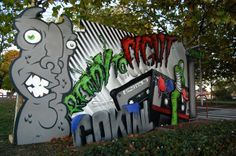 Nerone, Epis, Ghetto, Le Coktail, Décoration, Peinture, Graffiti, Street Art, Vibrations Urbaines, 2010