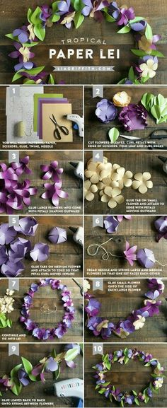 How to make a paper flower garland tutorial with free coronas de flores mightylinksfo