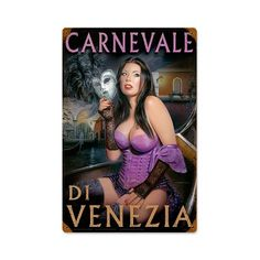 Carnivale di Venezia Vintage Metal Sign