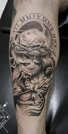 The 50 Best Religious Tattoos Bible Tattoos, Leo Tattoos, Feather Tattoos, Skull Tattoos, Body Art Tattoos, Sleeve Tattoos, Tattoos For Guys, Religious Tattoos For Men, Religious Tattoo Sleeves