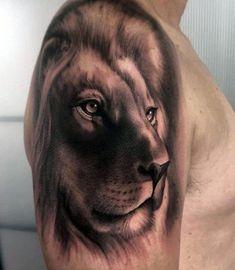 50 Realistic Lion Tattoo Designs For Men - Felidae Ink Ideas Lion Head Tattoos, Mens Lion Tattoo, 3d Tattoos, Tattoos For Guys, Cool Tattoos, Full Sleeve Tattoo Design, Lion Tattoo Design, Tattoo Design Drawings, Tattoo Designs Men