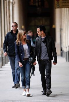 Jennifer Aniston and boyfriend Justin Theroux sighting in Paris.