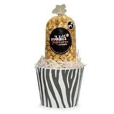Zebra Popcorn Gift Pail Small