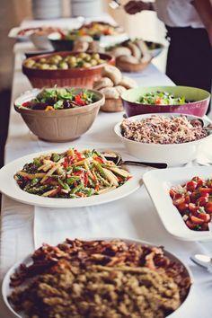 wedding meal boho buffet - Google Search