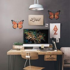 $12.95  - Monarch Butterfly Stencil  Size SMALL  Stencils for DIY Wall Decor  By Cutting Edge Stencils * Read more reviews of the product by visiting the link on the image. (This is an affiliate link) #WallStickersMurals