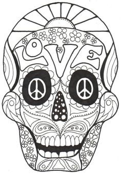 Day of the Dead, cOLoRiNg bOoK, Dia de los Muertos, Calavera, Sugar, Skull