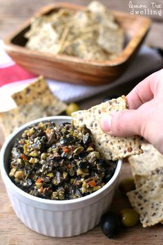 This quick and easy recipe for olive tapenade is healthy, packed with flavor and feels fancy! Pair it with veggies for a yummy appetizer guests will love.