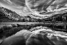 Reflections - photograph by Steven Reed.  #stevenreed #landscapephotography #blackandwhitephotography
