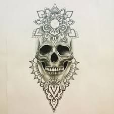 sugar skull flower tattoo image - Google Search