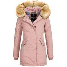 Mantel met afneembare bontkraag