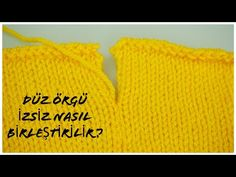 How to combine flat knitting without track / knitting sewing techniques / knitting patterns / figen Ararat - Tığ işleri Knitting Videos, Knitting Stitches, Baby Knitting, Knitting Patterns, Needle Felted Cat, Needle Felted Animals, Origami Bag, Knitted Baby Clothes, Baby Scarf