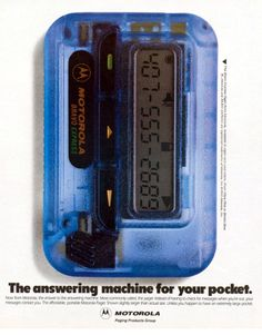 And 'mobile phones' were called 'pagers'. No apps on this thing.