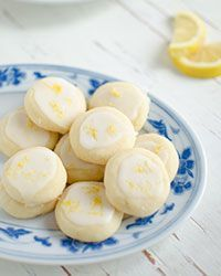 Lemony Butter Cookies - using confectioners sugar in the dough in place of granulated sugar gives the finished cookies a light crumb!