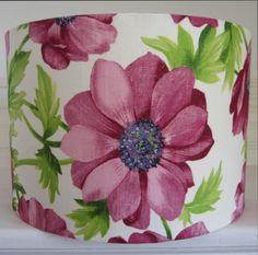 860ab0d8df0d6 Bright Pink & Green Floral 30cm Diameter by pepperedmothlighting,  £35.00 Flower Drum,