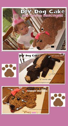 55 Ideas cupcakes decoration dog puppy birthday for 2019 Puppy Birthday Cakes, Puppy Birthday Parties, Dog Birthday, Puppy Party, Birthday Ideas, Happy Birthday, Fondant Cakes, Cupcake Cakes, Fondant Bow
