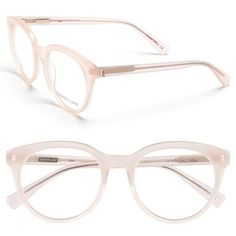 Derek Lam 51mm Optical Glasses ($270) ❤ liked on Polyvore featuring accessories, eyewear, eyeglasses, glasses, sunglasses, pink, pink glasses, acetate glasses, derek lam eyeglasses and lens glasses