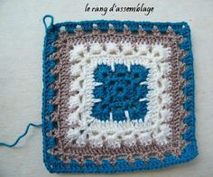 Beautiful square--instructions in French; Bing Translate makes a hash of it.  Still, an experienced crocheter could probably suss it out -- pics are pretty good.