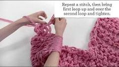 "Arm knitting tutorial by Michaels. Titled ""Arm Knitting for Beginners"" and it looks pretty easy! I'm so doing this, but not in pink!"