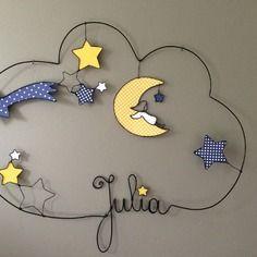 Prenom en fil de fer  julia etoile