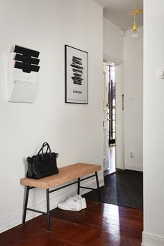 Ikea 'Sinnerlig' bench in hallway