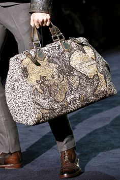 Gucci Men's A/W 2012 - medieval world map patterned bag