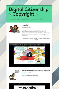 Digital Citizenship   ~ Copyright ~